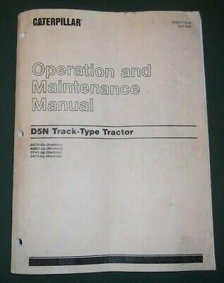 Cat Caterpillar D5n Tractor Dozer Operation Maintenance Manual Akd Agc Cfh Ckt
