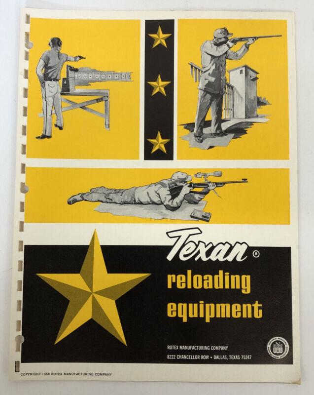 1968 Texan Reloading Equipment Catalog Dallas Texas