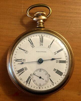 Waltham P.S. Bartlett 1902-03 18S Railroad Pocket Watch Runs! Ships July 27