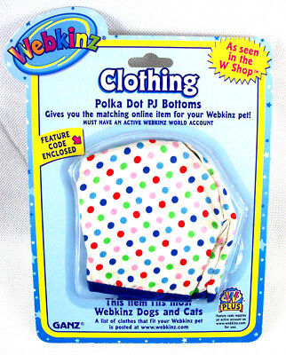 Webkinz Polka Dot PJ Bottoms Clothes Package New
