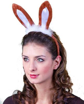 braune Hasenohren Hase Bunny Ohren Karneval Fasching JGA - Oster Bunny Ohren
