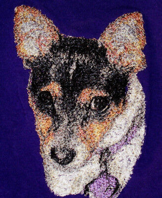Embroidered Ladies Fleece Jacket - Rat Terrier AED16220 Size S - XXL