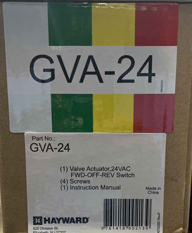Hayward GVA24 Goldline Valve Actuator Swimming Pool Spa with 15 Foot Cable 24V