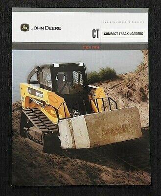 John Deere Ct322 Ct332 Skid Steer Compact Track Loader Tractor Brochure Mint