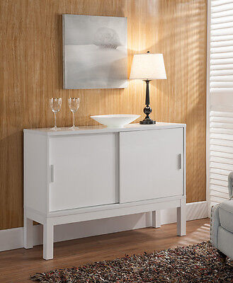 151318 Smart Home White Sideboard Buffet Serving Kitchen Home Furniture Table ()