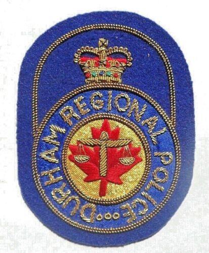 RARE Police Badge / Patch  - Durham Regional Police - Durham Ontario Canada