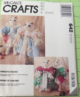 Renaissance Clothing Patterns (McCall's 642 Renaissance style cats stuffed dolls & clothing pattern,)
