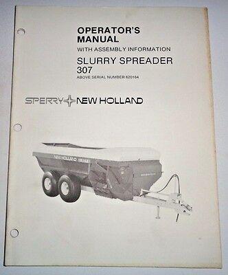 New Holland 307 Slurry Manure Spreader Operators Manual 785 Original Nh