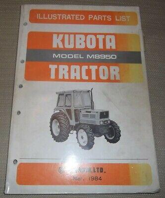 Kubota M8950 Tractor Parts Manual Book Catalog Original Oem