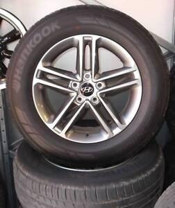 Hyundai Santa Fe Set of 5 Wheels and Tyres Toowoomba Toowoomba City Preview
