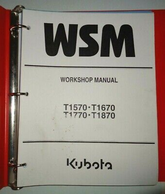 Kubota T1570 T1670 T1770 T1870 Lawn Garden Tractor Workshop Service Manual