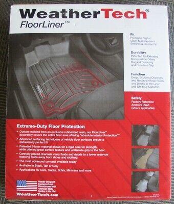 WeatherTech FloorLiner Front Mats 1st Row Driver Passenger 446971  Ford F-150