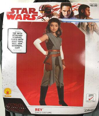 Starwars Dress Up (Halloween Dress Up Disney Star Wars Rey Costume Girls Large 12-14)
