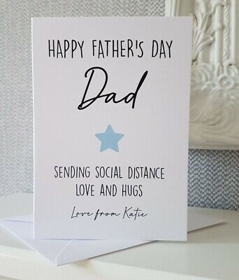 Personalised Father's Day lockdown Card