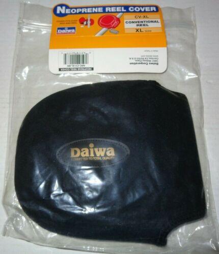New Daiwa Neoprene XL Conventional Bait-casting Fishing Reel Cover CV-XL Black