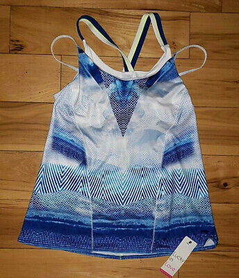 Womens Lucky In Love Tennis Tank Top Colorful Shirt Athletic Fitted New Size -