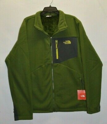 North Face Men's Chimborazo Fleece Jacket Full Zip Scallion Green L XL XXL New