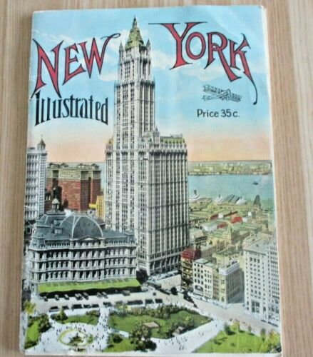 1920S NEW YORK ILLUSTRATED ~ MANHATTAN POST CARD CO. ~ PHOTOS OF SKYSCRAPERS ETC