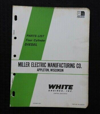 Hercules D Series 4-cylinder Diesel Engine Miller Electric Mfg Appleton Wi