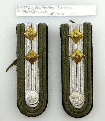 #e3571 1 Paar DDR NVA Schulterstücke Landstreitkräfte Pioniere Oberfähnrich 110e