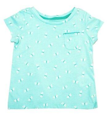 Toughskins Hellblau Glitzernde Libelle Top Hemd Kleinkinder Kleine Mädchen 2t