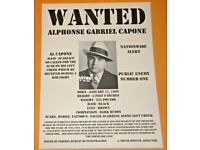 FRANK NITTI WANTED POSTER PLAQUE MAFIA ORGANIZED CRIME MOBSTER MOB