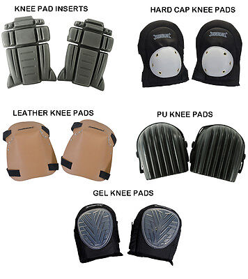 Silverline Knee Pad Inserts Hard Cap Leather Pu Gel Knee Pads