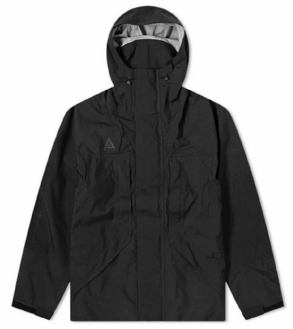 NWT Nike ACG GORE-TEX HD Hooded Jacket Mens Size XL Black CD