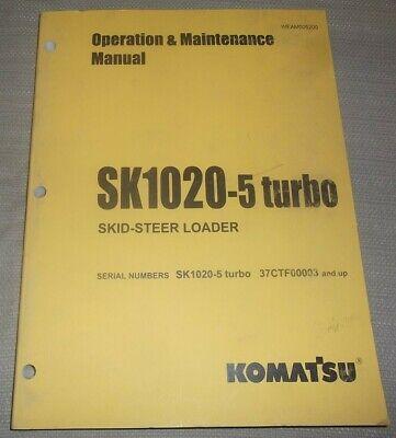 Komatsu Sk1020-5 Skid Steer Loader Operation Maintenance Manual Sn 37ctf00003-up
