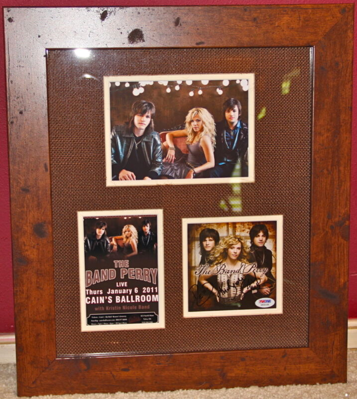 The Band Perry signed all 3 CD PSA DNA COA autographed FRAMED Kimberly Reid Neil