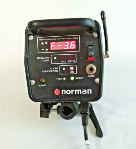 Norman ML400R Radio Control Monolight with Bulb & Power Cord TESTED / WORKS
