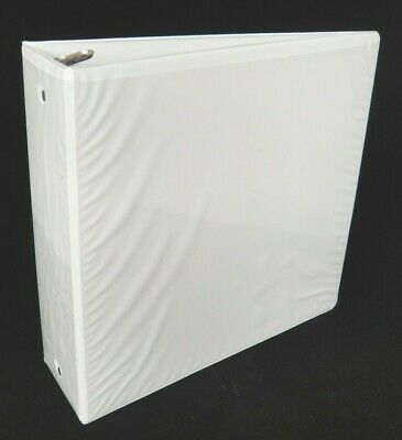 Large 3 3 Ring Binder With Page Lifters Exterior And Interior Pockets White