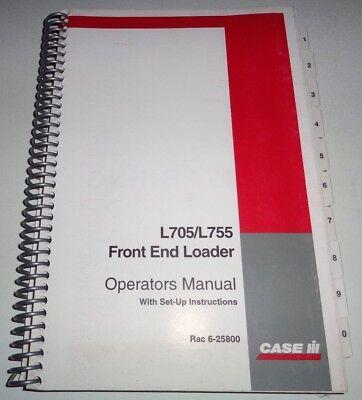 Case Ih L705 L755 Loader Operators Manual Used On Mx150 Mx170 Tractors Cih