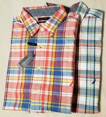 $65 NEW NWT NAUTICA MEN'S BIG & TALL BUTTON UP FRONT SHIRT SZ SIZE 2X 3X 4X -