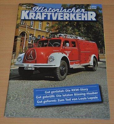 Historischer Kraftverkehr HIK 1/99 Büssing Feuerwehren RKW 10 Magirus Kranwagen