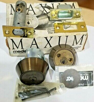 Medeco Maxum High Security Double Sided Cylinder Deadbolt Lock Locksmith No Keys