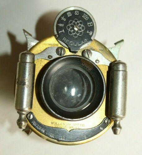 k) Vintage Wollensak Optical Co.Camera Lens For Parts or Restoration