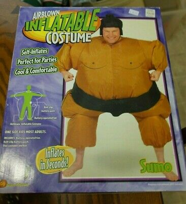 Sumo Wrestler Costume Inflatable Suit Blow Up Party Outfit Cosplay Gemmy - Sumo Wrestlers Costumes