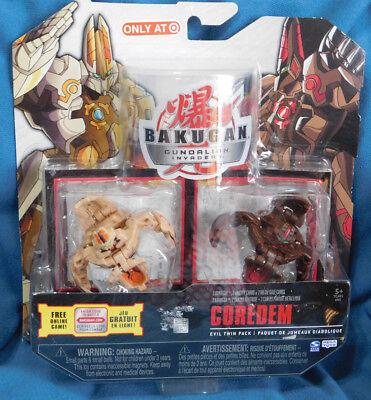 BAKUGAN Gundalian Invaders COREDEM Evil Twin Pack Ability& Metal Cards 2010