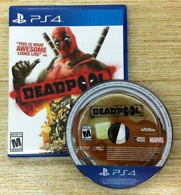Deadpool (Sony PlayStation 4, 2015) PS4 WORKS PERFECT SHIPS FAST MARVEL