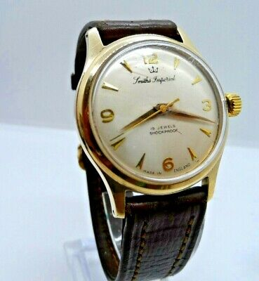 A 9 Ct Gold SMITHS IMPERIAL Gents Wristwatch,19 Jewels Made in England 1958 VGC
