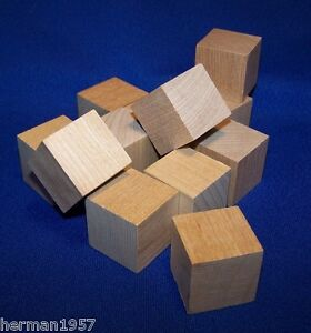 24 natural unfinished hardwood 1 wood blocks square cubes for Large wooden blocks for crafts