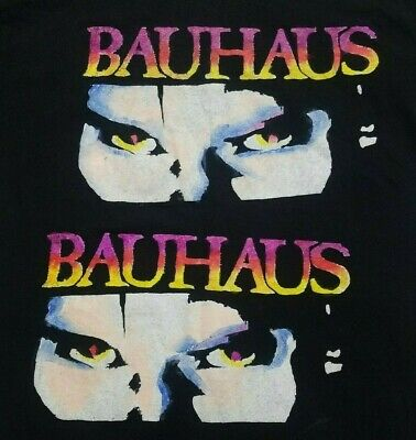 Bauhaus band rare multicolor ***XL*** screen printed t-shirt Black retro Classic Screen Print Jersey