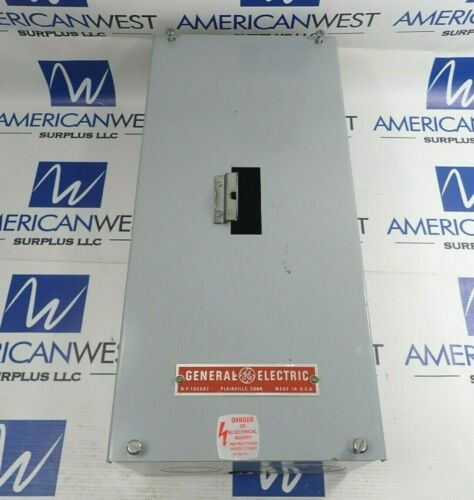 GENERAL ELECTRIC FLUSH MOUNT / TE100S SURFACE MOUNT TYPE 1 100A 600V ENCLOSURE