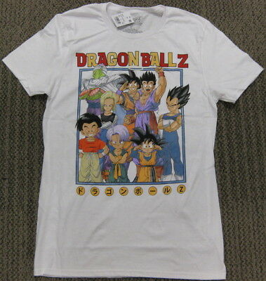 Dragon Ball Z Athletic Fit Soft Stretch T Shirt White Anime NEW men S M L XL XXL ()