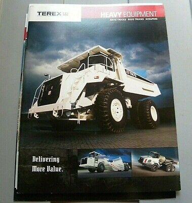Factory Terex Artic Trucks Rigid Trucks Scrapers Dealership Brochure