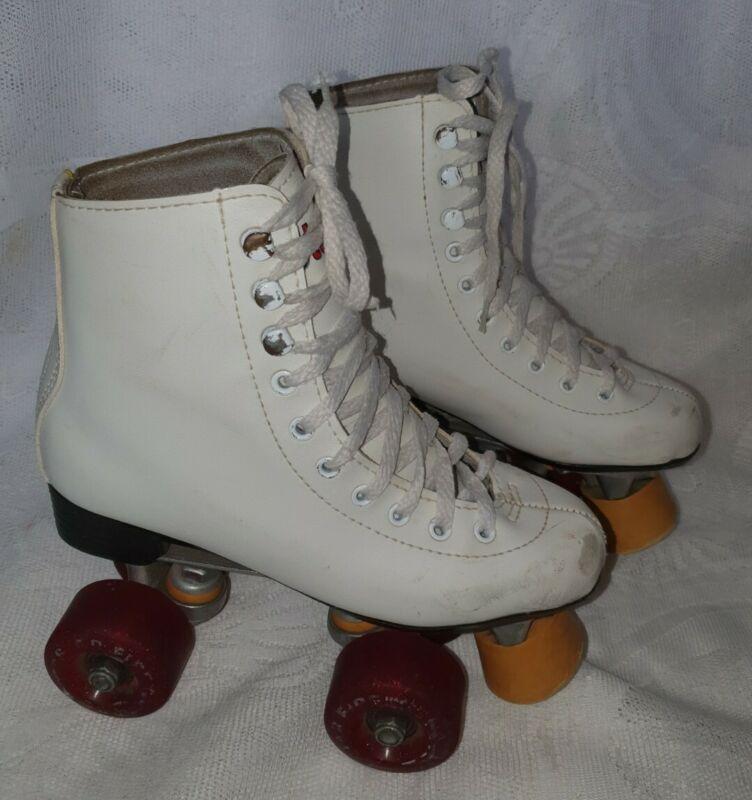 STARFIRE White Leather Roller Skates Size 35. Good condition  Retro