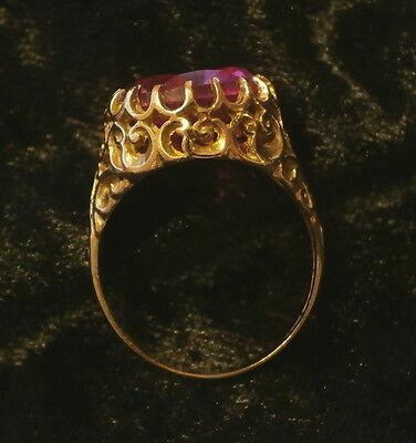 Filigraner Goldring mit Topas - 585er Gelbgold -  Größe 18