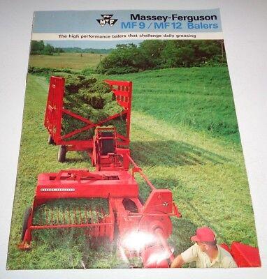 Massey Ferguson Mf 9 Mf 12 Baler Sales Brochure Manual Original Huge Fold-out