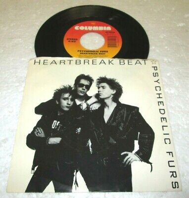 "PSYCHEDELIC FURS HEARTBREAK BEAT 45 7"" NM NEAR MINT COLUMBIA VINYL LISTEN w/PS"
